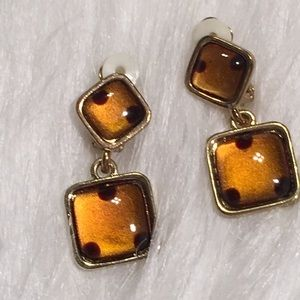 "Vintage 1 1/4"" Clip On Earrings Comfort Pad"